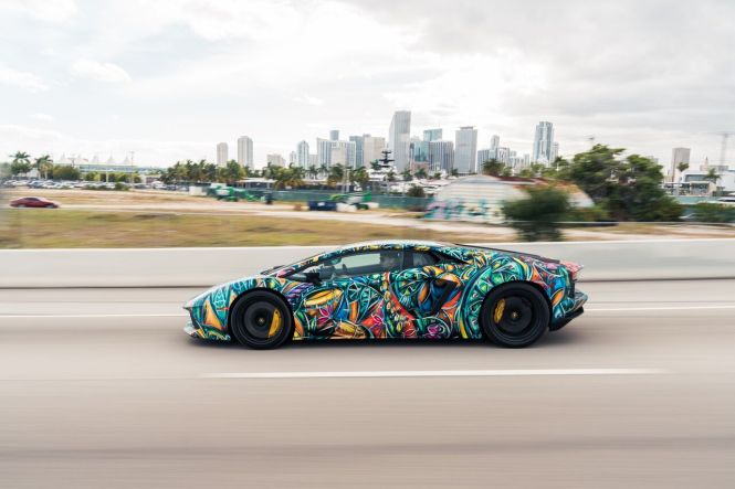 Colorful Aventador, Art Lambo, Art Basel